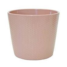Lina 15cm Old Rose Gloss Ceramic Pot