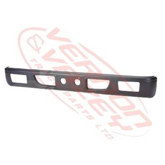 FRONT BUMPER - WIDE - GREY - W/FOG HOLE