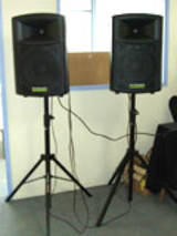 Two powered speakers