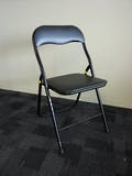 Black Vinyl Folding Chairs