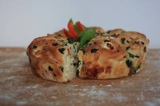 Spinach and Cheese Pull-apart