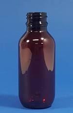 100ml Amber PET Pharm Round Bottle