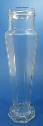 500ml S/Flint Tall Facetted Twist Jar