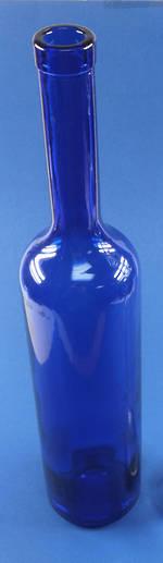 750ml Royal Blue Bellissima Cork Bottle