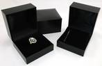 SC5RING - XL RING BOX LEATHERETTE BLACK NO LINE BLACK PAD