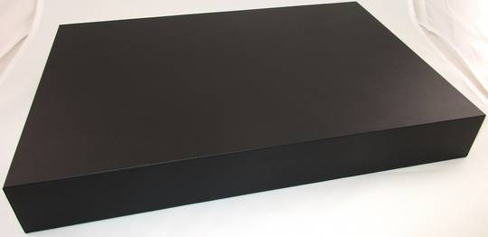 DISPLAY PLATFORM XL RECTANGULAR BLACK VINYL