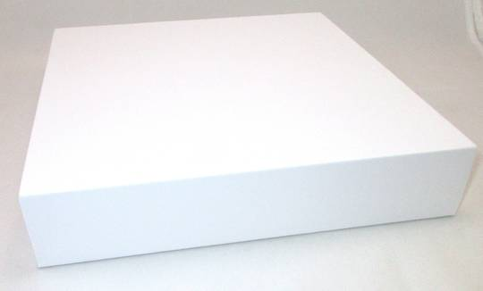 DISPLAY PLATFORM LARGE SQUARE WHITE VINYL