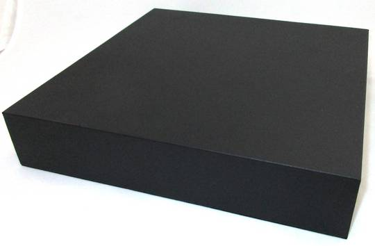 DISPLAY PLATFORM LARGE SQUARE BLACK VINYL