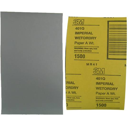 3M IMPERIAL WETODRY PAPER 1500 GRIT