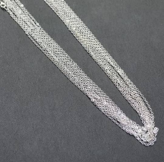 """SILVER PLATED CHAIN 19"""" (47.50CM) - 100 PACK"""