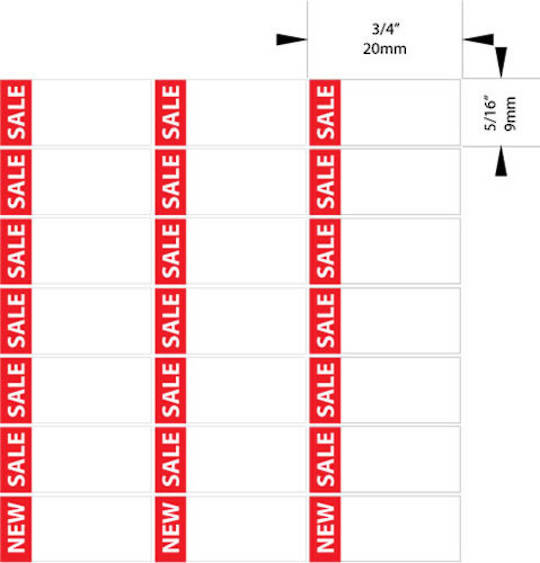 "ZETAGS PRE-PRINTED ""SALE"" BORDER PRICE LABELS RED (420 PCS)"
