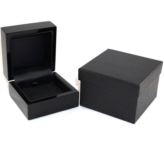 PENDANT BOX GLOSS BLACK WOOD BLACK PAD