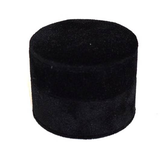 DELUXE ROUND RING BOX BLACK SUEDE