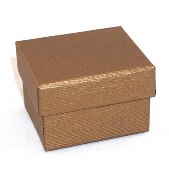 CBR - RING BOX CARDBOARD BRONZE BLACK PAD (60 PCS)