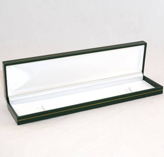 SDB - BRACELET BOX LEATHERETTE GREEN WHITE PAD