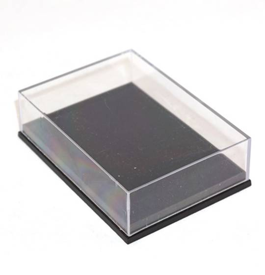 NO16 PLASTIC BOX CLEAR LID THIN BLACK BASE (1 DOZ)