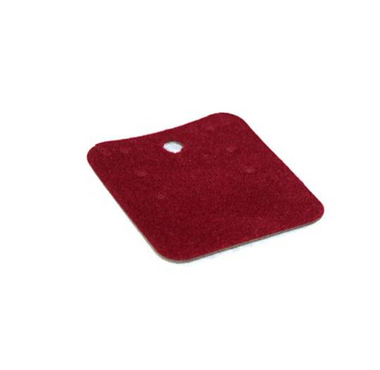 EARRING/PENDANT CARD BURGUNDY FLOCK SMALL (50 PIECES)