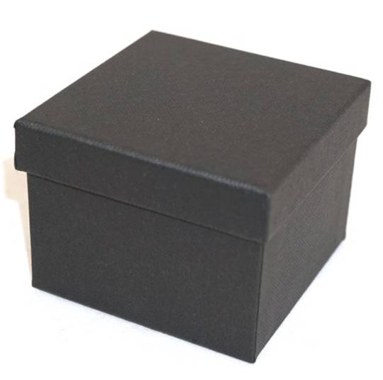 CB8 - WATCH/BANGLE BOX CARDBOARD BLACK BLACK CUSHION