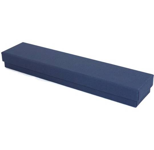 CBLB - BRACELET BOX CARDBOARD NAVY WHITE PAD BULK DEAL (24 PCS)
