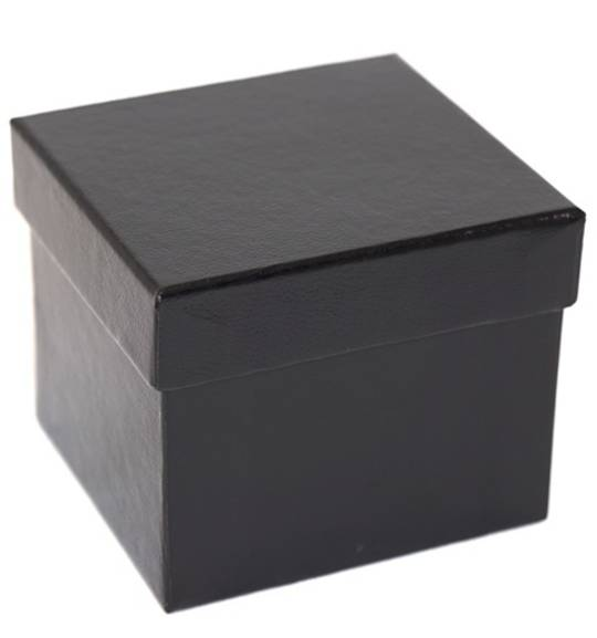 SDRLO - CARDBOARD LARGE RING BOX GLOSS BLACK BLACK PAD