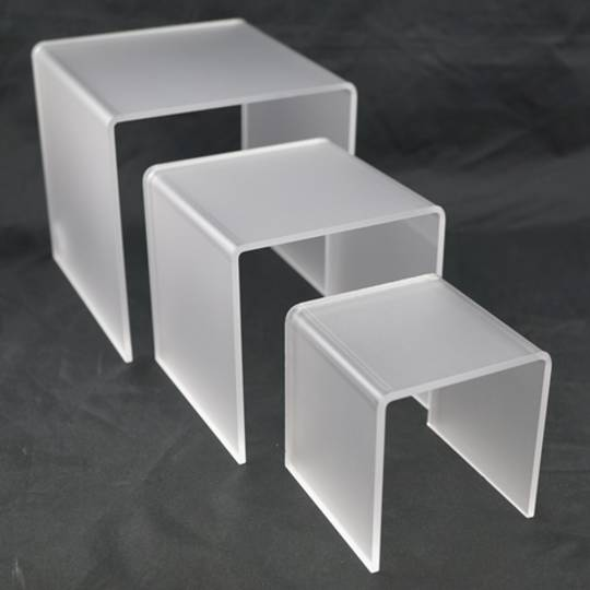 3 STEP FROSTED PERSPEX DISPLAY STAND (3 PCS SET)