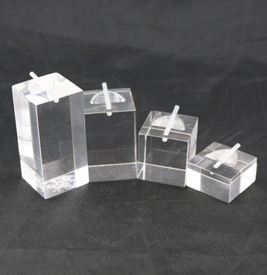 4 SQUARE RING STAND CLEAR PERSPEX