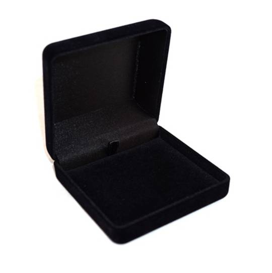 SSSB - LARGE PENDANT BOX BLACK FLOCK BLACK PAD BULK DEAL (24 PCS)