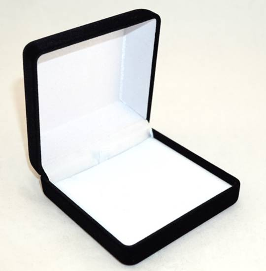 SSSB - LARGE PENDANT BOX BLACK FLOCK WHITE PAD