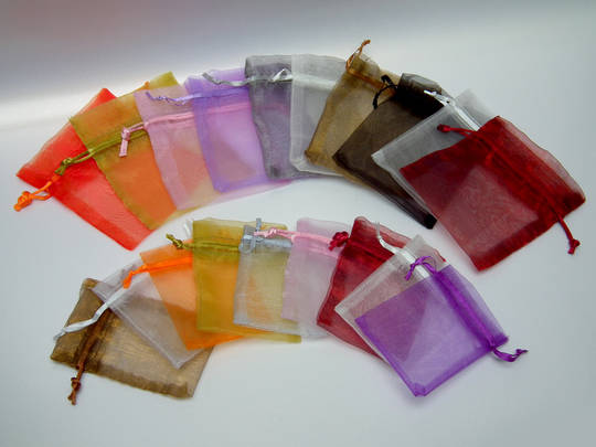 ORGANZA BAG 7 X 10 CM PURPLE (1 DOZ)