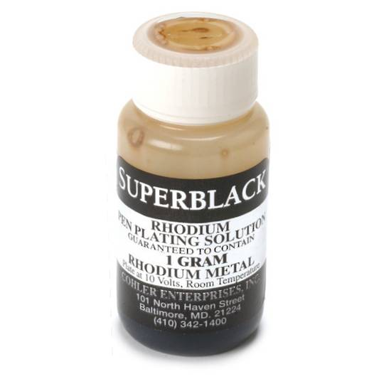 SUPERBLACK RHODIUM BATH CONCENTRATE 1gm BLACK