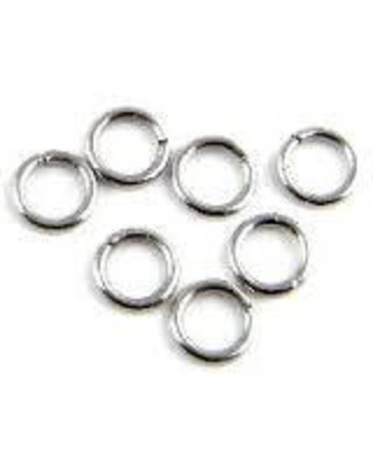 JUMP RING STAINLESS STEEL 6MM  (100 PACK)