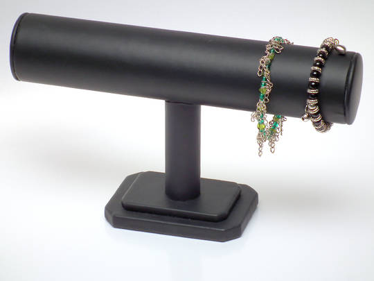 BANGLE STAND T-BAR BLACK VINYL