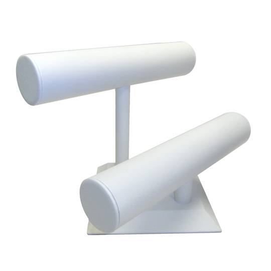 BANGLE / BRACELET STAND 2 TIER WHITE VINYL
