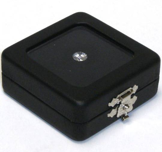 DIAMOND/GEM DISPLAY BOX BLACK/WHITE INSERT