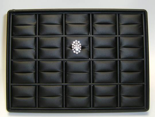 RING DISPLAY TRAY BLACK VINYL