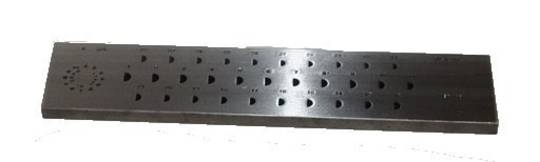 DRAWPLATE HALFROUND 3x1.5 - 6x3mm 31 HOLES