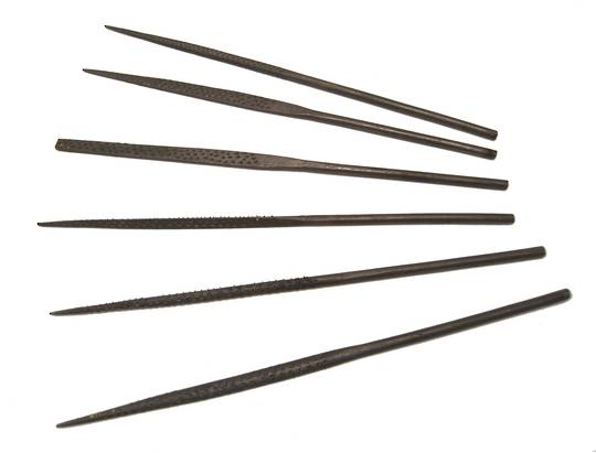ECONOMY WAX NEEDLE FILE SET (6)