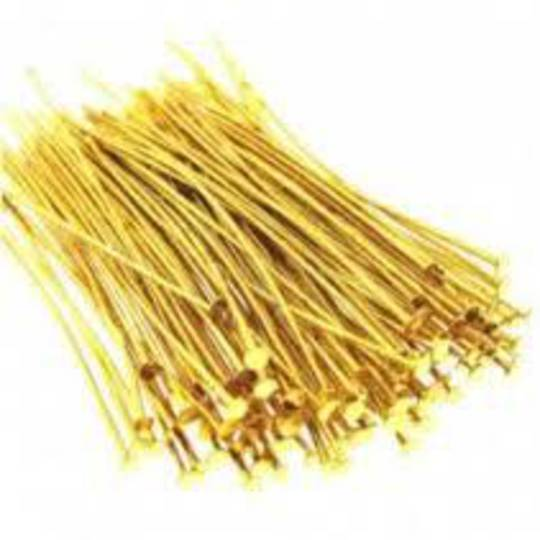 HEAD PIN GOLD PLATED 70MM (50 PACK)