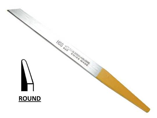 GRAVERS - HSS ROUND EDGE 0.4mm