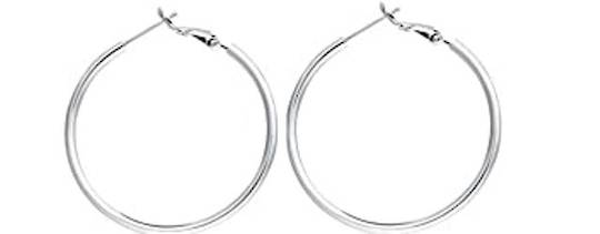 "HOOP EARRING 0.75""/19MM SILVER PLATED (10 PAIRS)"