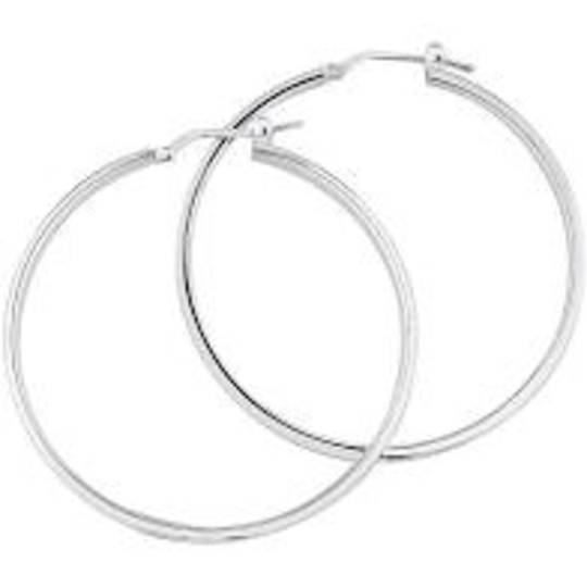 "HOOP EARRING 1""/25MM SILVER PLATED (10 PAIRS)"