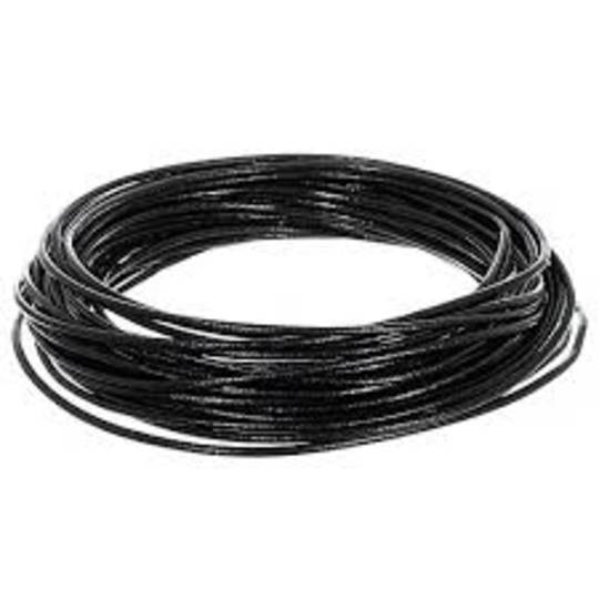 LEATHER CORD BLACK ROUND 1MM (10 MTR)