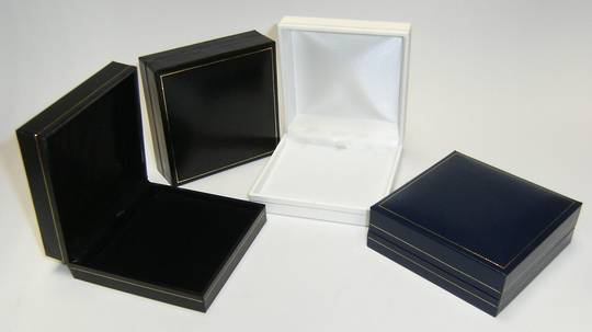 SDLP - PENDANT BOX LEATHERETTE NAVY WHITE PAD