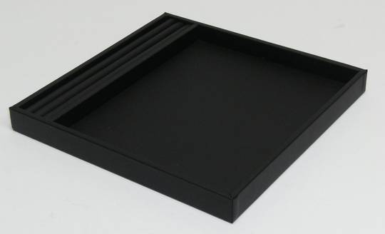 SMALL PRESENTATION/DISPLAY TRAY W/ROLL BLACK VINYL
