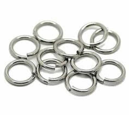 JUMP RING STAINLESS STEEL 8MM THICK GAUGE 1.2MM (100 PACK)