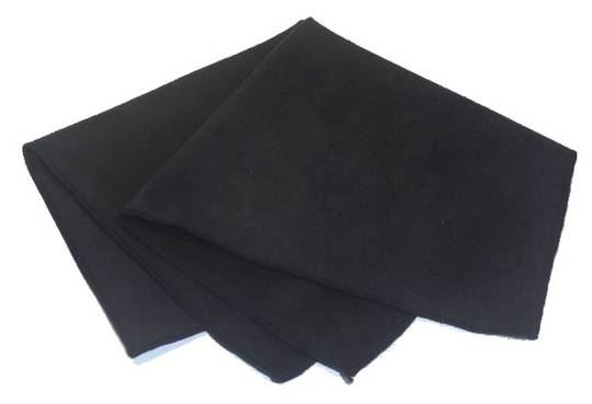 DELUXE BLACK SUEDE POLISHING CLOTH 28x30cm