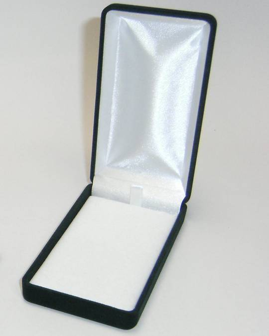 SSLP - LONG PENDANT BOX BLACK FLOCK WHITE PAD