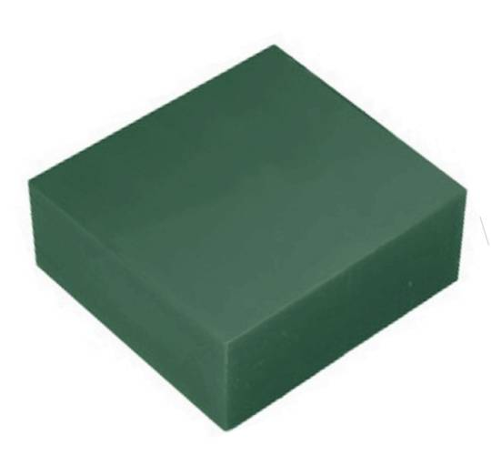 WAX BLOCK Green 1/2lb BAR