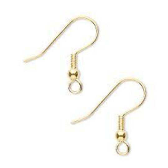 ZULU EAR WIRES GOLD PLATED BULK (500 PAIRS)