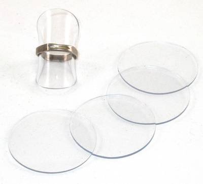 DISC RING STAND CLEAR ACRYLIC (10 PCS)